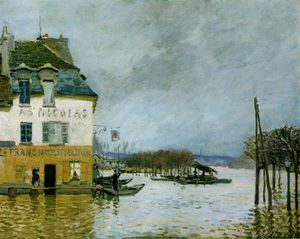 Alfred Sisley - Alluvione a Port-Marly , musee des beaux -