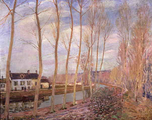 Canale loing di Alfred Sisley (1839-1899, France)