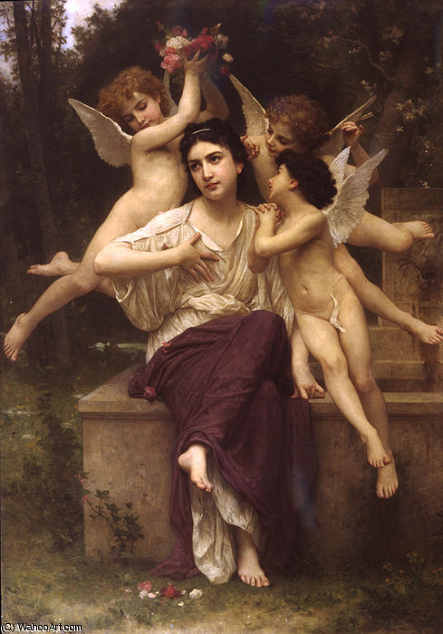 Un sogno  di  Molla  di William Adolphe Bouguereau (1825-1905, France)