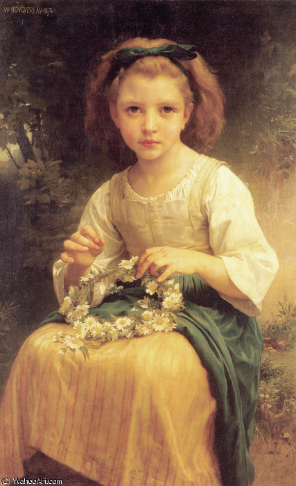 Bambino trecce una corona di William Adolphe Bouguereau (1825-1905, France)