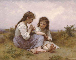 William Adolphe Bouguereau - Idylle enfantine