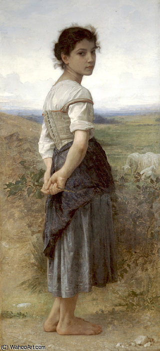 Jeune bergere di William Adolphe Bouguereau (1825-1905, France) | Copia Pittura | WahooArt.com