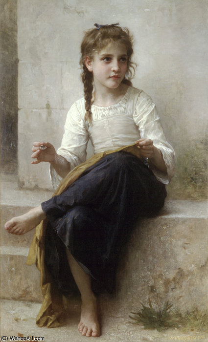 La couturière di William Adolphe Bouguereau (1825-1905, France)