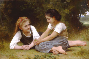 William Adolphe Bouguereau - Les noisettes