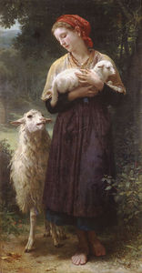 William Adolphe Bouguereau - il neonato agnello