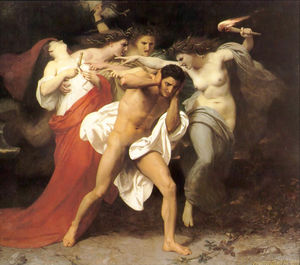 William Adolphe Bouguereau - Il rimorso di Oreste