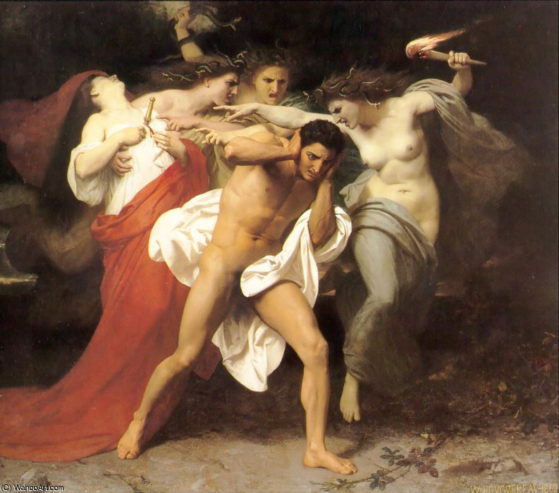 Il rimorso di Oreste di William Adolphe Bouguereau  (ordinare Belle Arti Poster su tela William Adolphe Bouguereau)