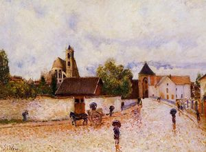 Alfred Sisley - Moret-sur-Loing , tempo piovoso