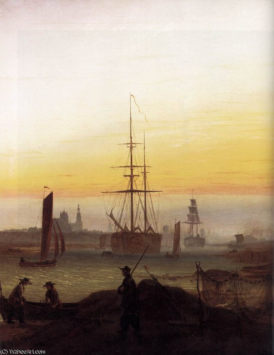 Porto, 1811 di Caspar David Friedrich (1774-1840, Germany)