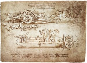 Leonardo Da Vinci - engineering-Assault carro con falci