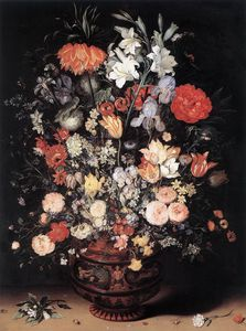 Jan Brueghel The Elder - fiori in a vaso