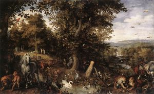 Jan Brueghel The Elder - giardino di eden