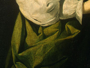 Francisco Zurbaran - santa lucia , detlalj 5 , c . ng washington