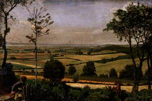 Ford Madox Brown - Vista da Shorn Ridgway, Kent