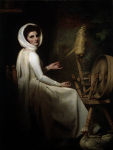 George Romney - Emma Hart come The Spinstress