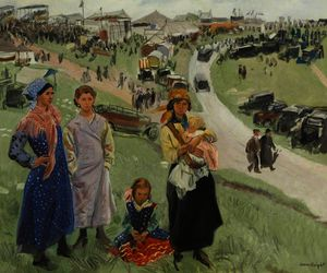 Dame Laura Knight - Downs Epsom