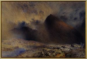 Alfred William Hunt - mount snowdon attraverso clearing nubi