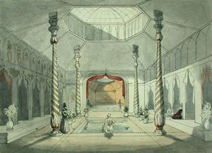 Charles Hamilton Smith - Interno di un Persiano bagno a Kermanshah