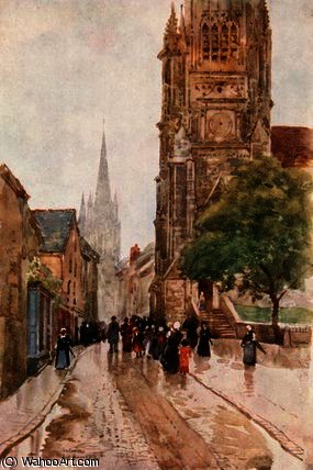 Cattedrale di st . pierre , contances di Herbert Menzies Marshall (1841-1913, United Kingdom)