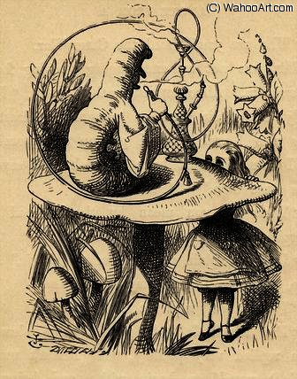 Consigli di un Caterpillar di John Tenniel (1820-1914, United Kingdom)
