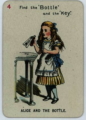 Alice e il Bottiglia di John Tenniel (1820-1914, United Kingdom)