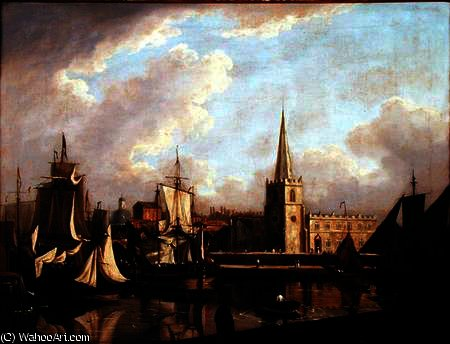 George's bacino dock , liverpool di John Thomas Serres (1759-1825, United Kingdom)