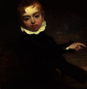 William Beechey - ragazzo con Un  mazza da cricket