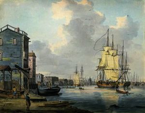 William Anderson - il tamigi a rotherhithe ,