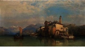 George Edwards Hering - Isola san guilo , lago d orta