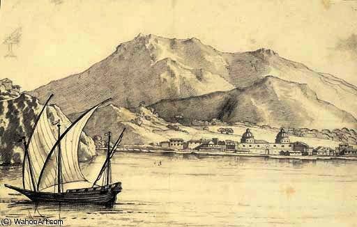 L 39 isola di elba dal mare l 39 italia di alexander cozens for Alexander isola