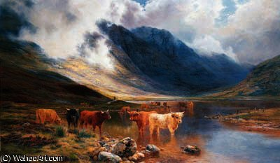 Un montanaro valletta - glencoe di Louis Bosworth Hurt (1856-1929, United Kingdom) | WahooArt.com