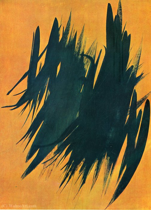 Untitled (442) di Hans Heinrich Hartung (1904-1989, Germany)