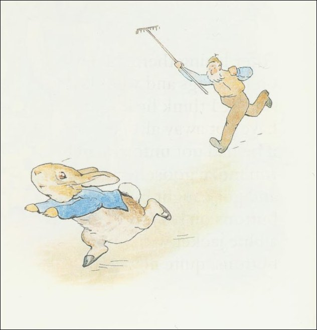 Peter 12a rabbit - (11x11) di Beatrix Potter (1866-1943)