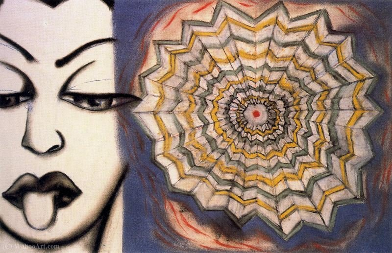Untitled (463) di Francesco Clemente