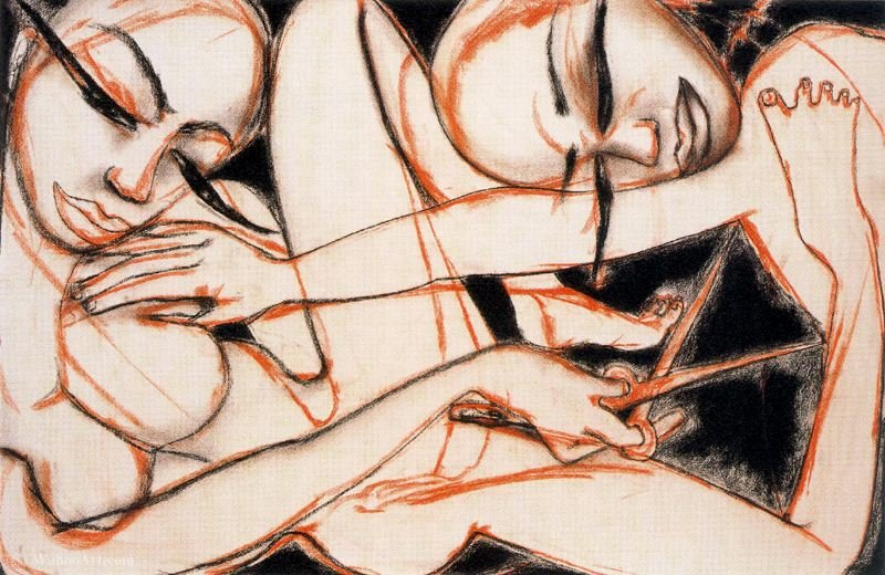 Untitled (709) di Francesco Clemente