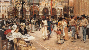 William Logsdail - Piazza di San Marco, Venezia