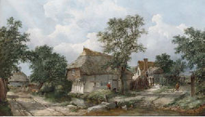 John James Wilson - Le cifre prima di un cottage,