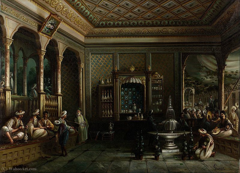 Una casa di caffè in Tophane di Thomas Allom (1804-1872, United Kingdom)