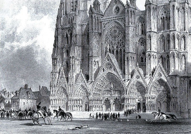 Cattedrale di Bourges di Thomas Allom (1804-1872, United Kingdom)