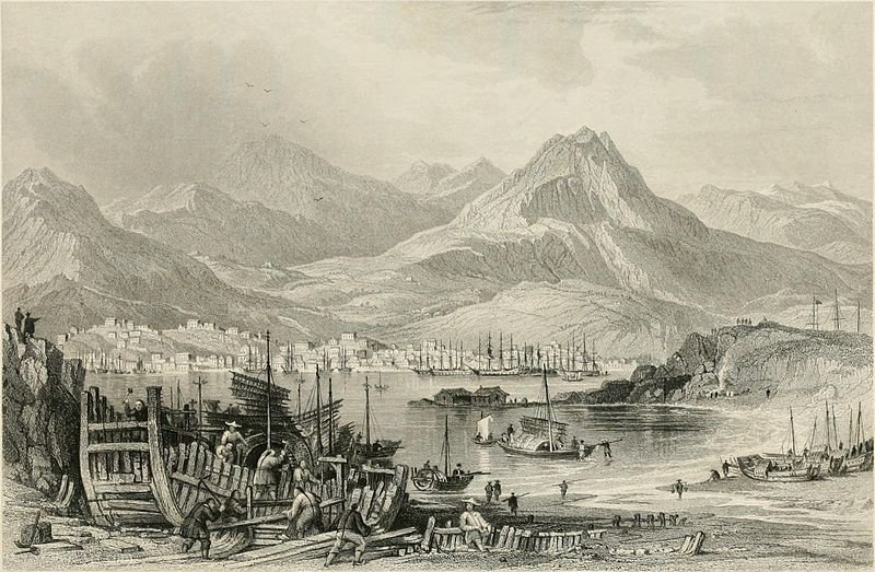 Hong Kong, da Kow Loon- di Thomas Allom (1804-1872, United Kingdom)