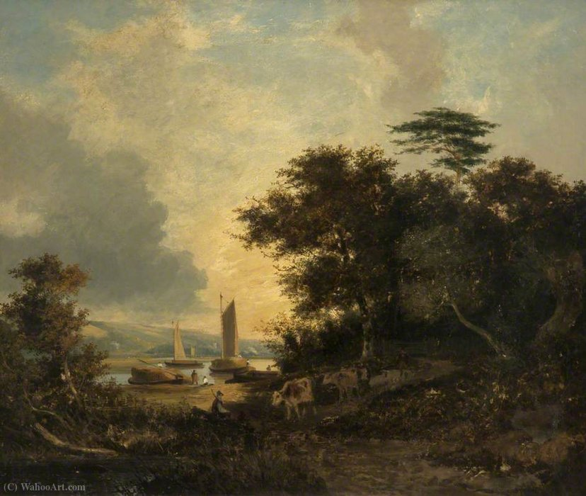 Bramerton, Woods End, vicino a Thorpe, Norfolk di George Vincent (1796-1831, United Kingdom) | WahooArt.com