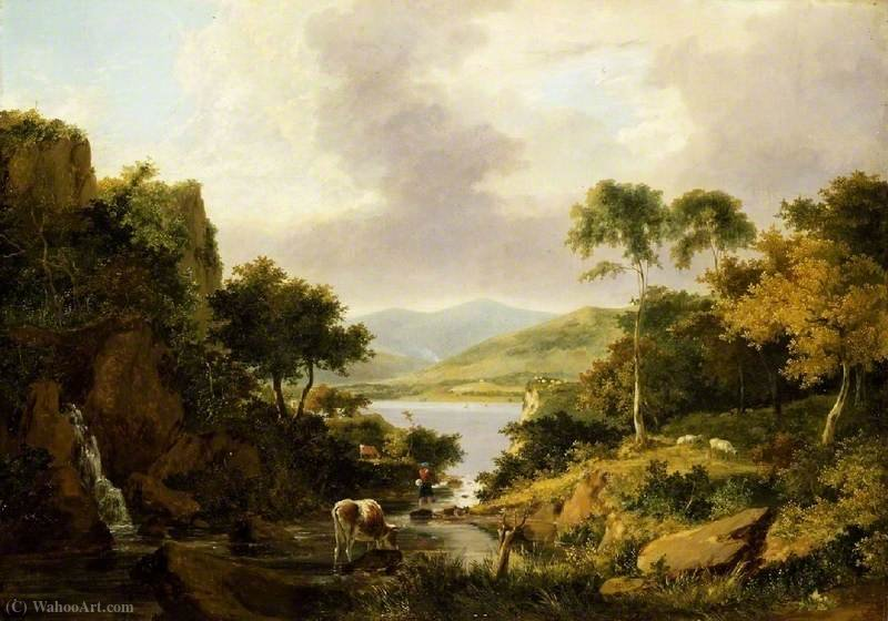 Loch Etive, Argyllshire di George Vincent (1796-1831, United Kingdom)