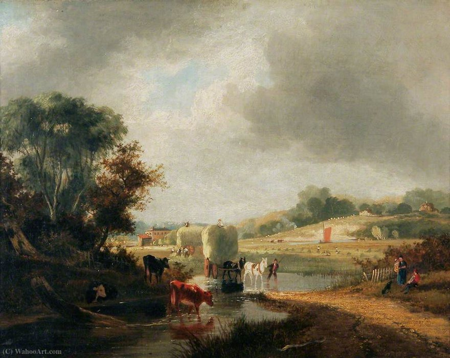 Trowse Hythe, vicino a Norwich di George Vincent (1796-1831, United Kingdom)