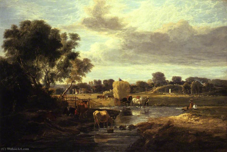 Trowse Meadows, vicino a Norwich di George Vincent (1796-1831, United Kingdom) | Riproduzione Art | WahooArt.com