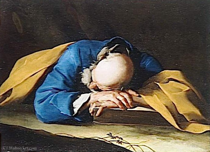 """Cattedra di San Pietro"" Giuseppe_Antonio_Petrini-The_saint_peter_sleep"