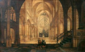 Hendrick Van The Younger Steenwyck - Interno di una chiesa Looking East