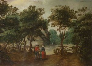 Jan The Younger Brueghel - A Cottage tra gli alberi