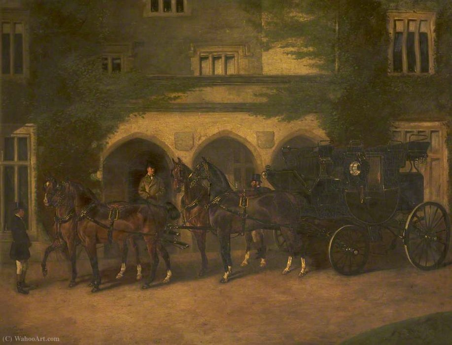 Coach and Horses Quattro di John Alfred Wheeler (1821-1903, United Kingdom)