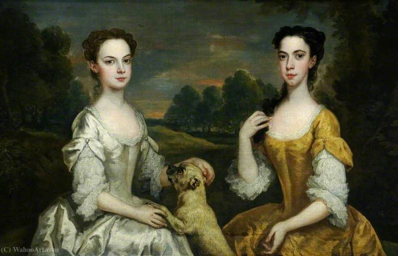Anne e Mary Tonson di John Vanderbank (1694-1739, United Kingdom)