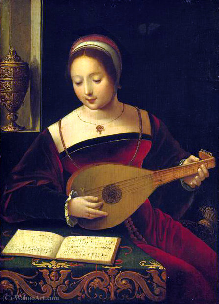 La luthiste di Master Of Female Half Lengths